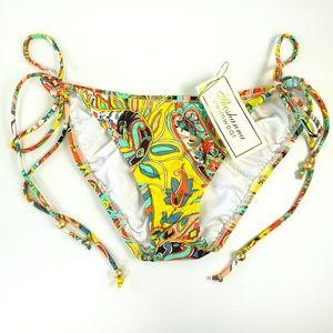 NWT Shoshanna M Retro Floral String Bikini Bottom